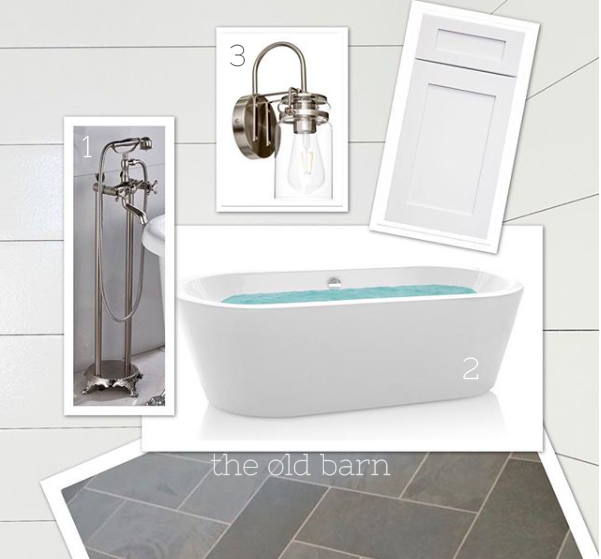 mood board for farmhouse master bath